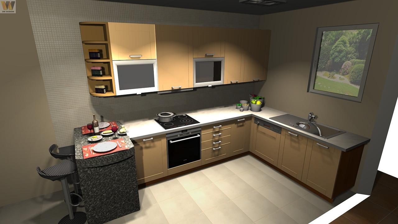 kuchyně dispoziční řešení