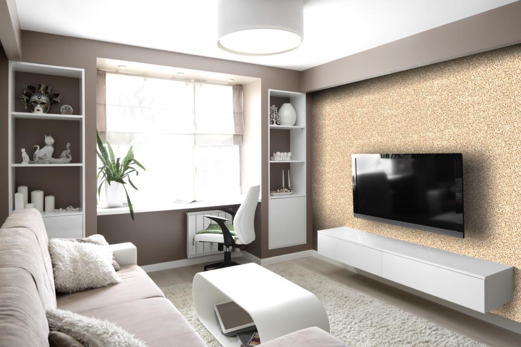 Kamenný koberec, obývací stěna Zdroj: TopStone